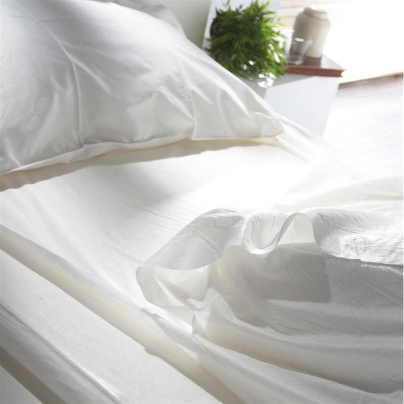 drap housse jetable qualite confort lit 1 personne 50pcs. Black Bedroom Furniture Sets. Home Design Ideas