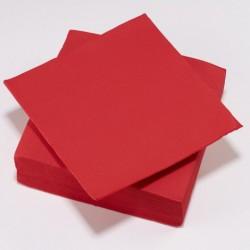 Serviette TENDANCE Rouge ouate 38 x 38 cm 2 plis ( pqt x50 ) - NA3354