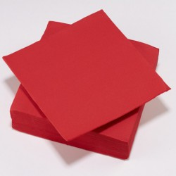 Serviette TENDANCE Rouge ouate 38 x 38 cm ( pqt x50 ) - NA3354