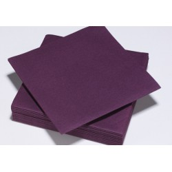 Serviette TENDANCE PRUNE ouate 38 x 38 cm 2 plis ( pqt x50 ) - NA8074