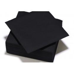 Serviette TENDANCE Noir ouate 38 x 38 cm 2 plis ( pqt x50 ) - N8079