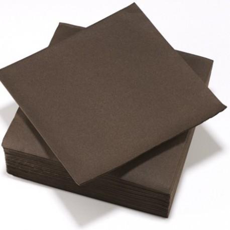 Serviette TENDANCE Chocolat ouate 38 x 38 cm 2 plis ( pqt x50 ) - NA8099