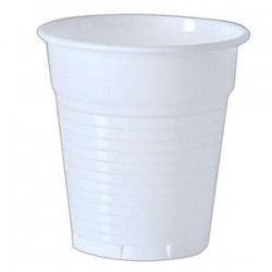 Gobelet plastique Blanc 10 cl ( x 100 ) - REF: 7923