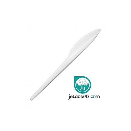 100 Couteaux plastiques blancs - PH552101