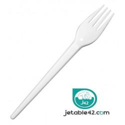 100 Fourchettes plastiques blanches - PH552101