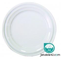 100 assièttes plastiques blanches 22 cm - PH552007