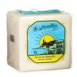 "SAVON DE MARSEILLE CUBE 400Gr ""LE MARSEILLOIS"" - 7690"