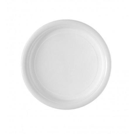 Assiette Ronde plastique blanc