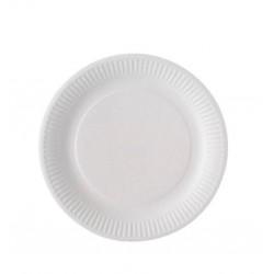 Assiette Ronde blanche biodégradable 1000 pcs